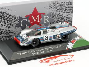 Porsche 917K #3 winnaar 12h Sebring 1971 Elford, Larrousse 1:43 CMR