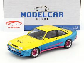 Opel Manta B Mattig Movie Manta Manta (1991) yellow / blue metallic / pink 1:18 Model Car Group