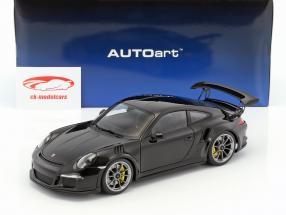 Porsche 911 (991) GT3 RS Bouwjaar 2016 zwart 1:18 AUTOart