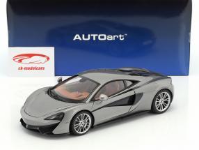 McLaren 570S ano de construção 2016 prata 1:18 AUTOart