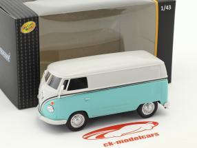 Volkswagen VW T1 Transporter blanc / turquoise 1:43 Cararama