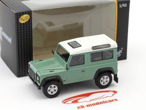 Land Rover Defender 90 light green / white 1:43 Cararama