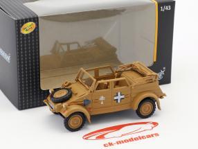 Volkswagen VW Kubel Typ 82 Open Top Baujahr 1941 Afrika Korps beige 1:43 Cararama