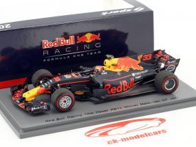 Max Verstappen Red Bull RB13 #33 gagnant Malaisie GP formule 1 2017 1:43 Spark