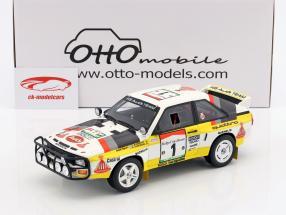 Audi Quattro Sport Gr. B #1 gagnant Rallye côte-d'Ivoire 1984 Blomqvist, Cederberg 1:18 OttOmobile