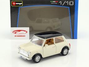 Mini Cooper anno 1969 crema 1:18 Bburago