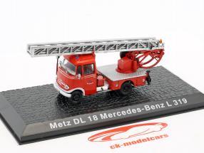 Mercedes-Benz L319 Metz DL18 brandweer 1:72 Altaya