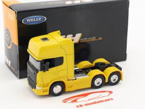 Scania V8 R730 (6x4) giallo 1:64 Welly