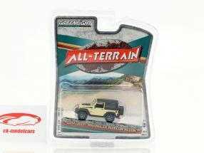 Jeep Wrangler Rubicon Recon All-Terrain year 2017 beige / black 1:64 Greenlight