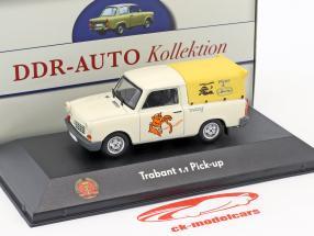 Trabant 1.1 Pick-up bianco / giallo 1:43 Atlas