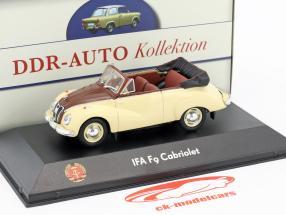 IFA F9 Cabriolet 468 beige / brown 1:43 Atlas