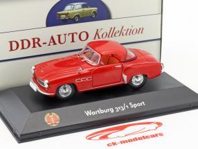 Wartburg 313/1 Sport rosso 1:43 Atlas