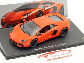 Lamborghini Aventador LP 700-4 Bouwjaar 2010 oranje 1:43 Leo Models