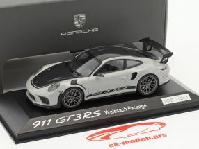 Porsche 911 (991 II) GT3 RS Weissach Package chalk gray / black 1:43 Minichamps