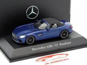 Mercedes-Benz AMG GT Roadster año de construcción 2017 brillante azul metálico 1:43 Spark