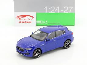Maserati Levante Bouwjaar 2017 blauw 1:24 Welly