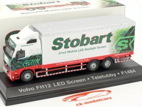 Volvo FH Mobile LED Screen Teletubby F1484 Stobart green / white 1:76 Atlas