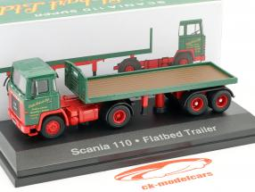 Scania 110 Flatbed Trailer Stobart green / red 1:76 Atlas