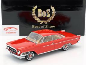 Chrysler 300H 2-Door Hardtop year 1962 red 1:18 BoS-Models