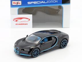 Bugatti Chiron World Record Car #42 J.-P. Montoya schwarz 1:24 Maisto