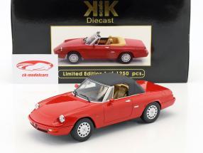 Alfa Romeo Spider 4 con removibile softtop anno di costruzione 1990 rosso 1:18 KK-Scale
