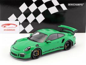 Porsche 911 (991) GT3 RS year 2015 viper green with black rims 1:18 Minichamps