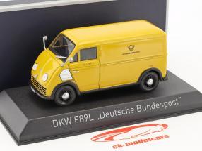 DKW F89L Deutsche Bundespost year 1952 yellow 1:43 Norev
