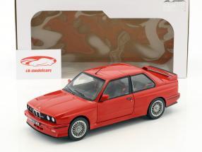 BMW M3 E30 Bouwjaar 1986 rood 1:18 Solido