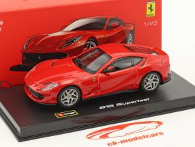 Ferrari 812 Superfast red 1:43 Bburago Signature