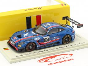 Mercedes-Benz AMG GT3 #16 Winner Pro-Am Cup 24h Spa 2017 Team Black Falcon 1:43 Spark