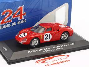 Ferrari 275 LM #21 Gregory, Rindt ganador 24h LeMans 1965 1:43 Ixo