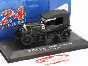 Bentley 3L #8 vincitore 24h LeMans 1924 Duff, Clement 1:43 Ixo