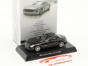 Mercedes-Benz SLS AMG noir 1:64 Kyosho