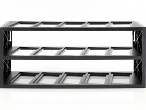 plastic vitrine voor omhoog naar 15 modellen in schaal 1:43 zwart Atlas
