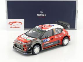 Citroen C3 WRC #7 Winner Rallye Mexiko 2017 Meeke, Nagle 1:18 Norev
