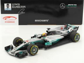 L. Hamilton Mercedes F1 W08 EQ Power  #44 World Champion Spanien GP F1 2017 1:18 Minichamps