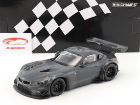 BMW Z4 GT3 E89 carbone décoration année de construction 2015 gris foncé 1:18 Minichamps