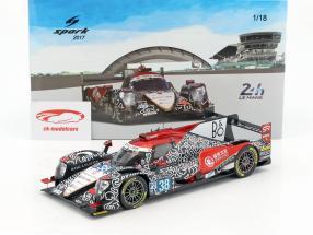 Oreca 07 #38 gagnant LMP2 classe 2 24h LeMans 2017 Tung, Laurent, Jarvis 1:18 Spark