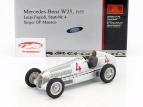 梅赛德斯 - 奔驰W25#4 L.法焦利方程式1 1935年摩纳哥大奖赛冠军1:18 CMC