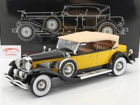 Duesenberg Model SJ Tourster Derham année de construction 1932 jaune-orange / noir 1:12 Premium ClassiXXs