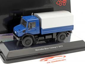 Mercedes-Benz Unimog U 5000 avec bâche bleu / argent 1:50 NZG