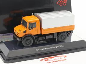 Mercedes-Benz Unimog U 5000 avec bâche orange / argent 1:50 NZG
