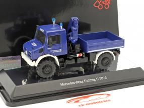 Mercedes-Benz Unimog U 5000 THW with crane blue 1:50 NZG