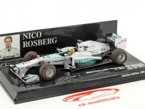 Nico Rosberg Mercedes F1 W04 #9 VS GP formule 1 2013 1:43 Minichamps
