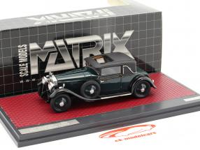 Hispano-Suiza H6B Park Ward Coupe year 1927 dark green 1:43 Matrix