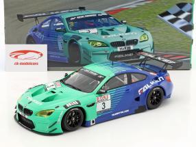BMW M6 GT3 #3 Team Falken winnaar 4. race VLN Nürburgring 2017 1:18 Minichamps