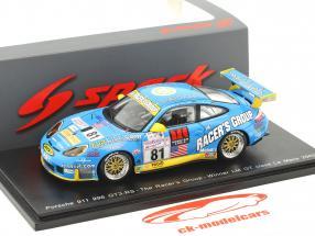 Porsche 996 GT3-RS #81 vincitore classe GT 24h LeMans 2002 Buckler, Bernhard, Luhr 1:43 Spark