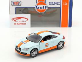 Audi TT coupe year 2015 gulf blue / orange 1:24 MotorMax
