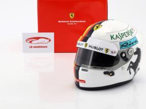 Sebastian Vettel Ferrari SF71H Formel 1 2018 Helm 1:2 Arai
