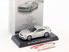 Mercedes-Benz SL 65 Black Series argento metallico 1:64 Kyosho